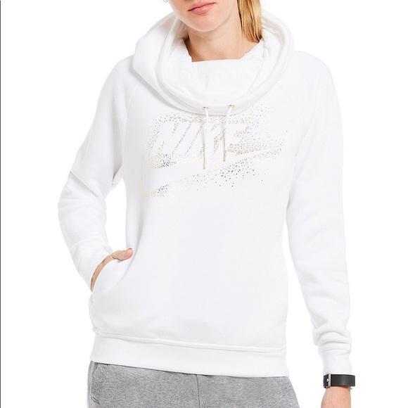 Nike Sportswear Rally Funnel Neck Long Sleeve Women White, Grey
